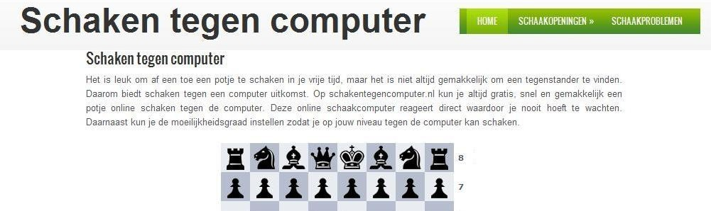 click here for the site Chess against computer